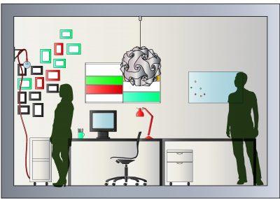 Alzato home office google Ufficio professionale by FAB813