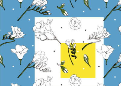 Pattern Freesie and Bee